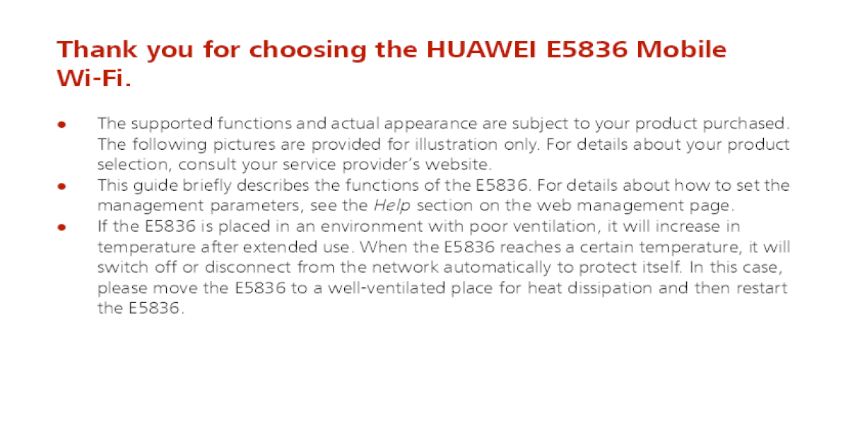 Huawei e5836s User Guide - [PDF Document]