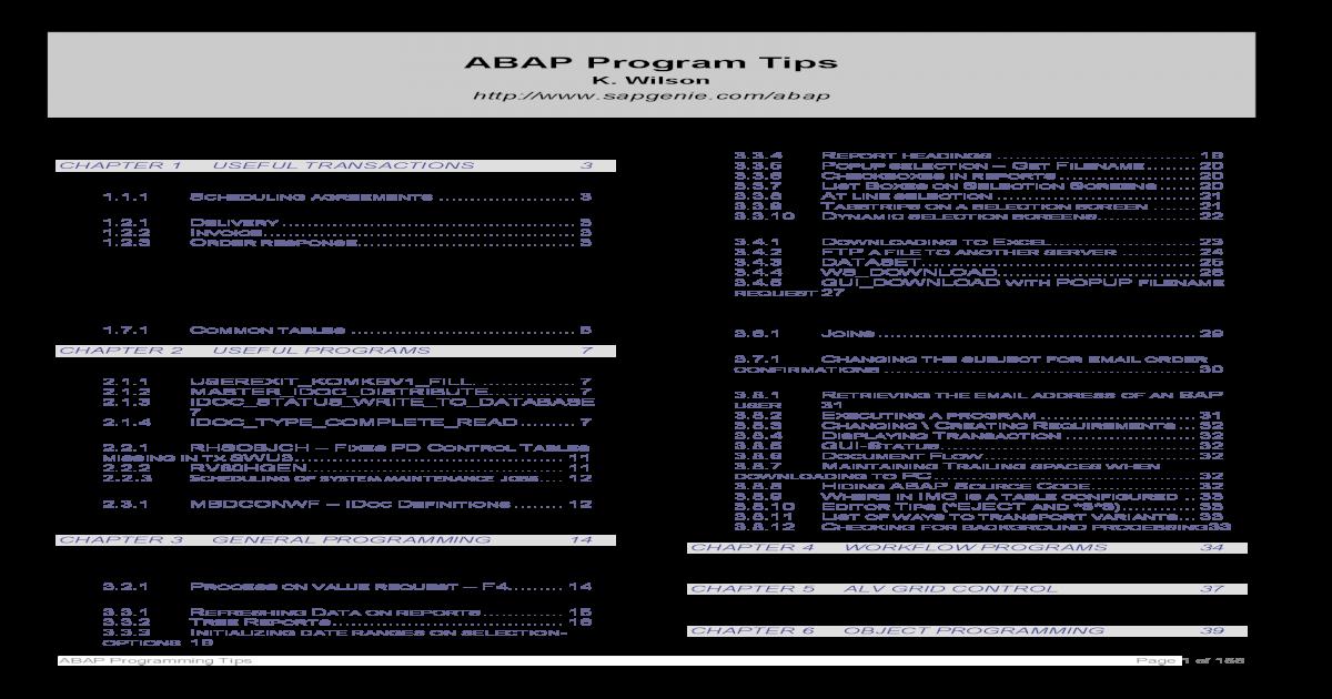 abap-tips - [PDF Document]