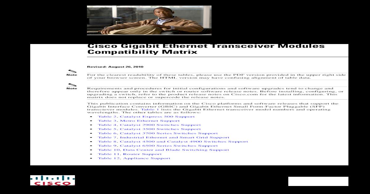 Compatibility Matrix - [PDF Document]
