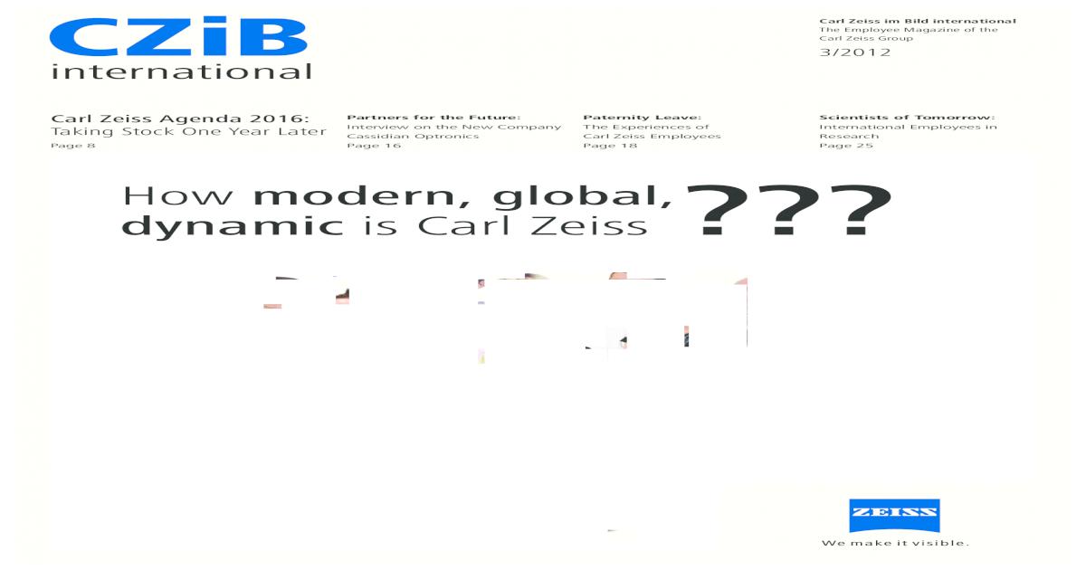 Carl-Zeiss International Magzine - [PDF Document]