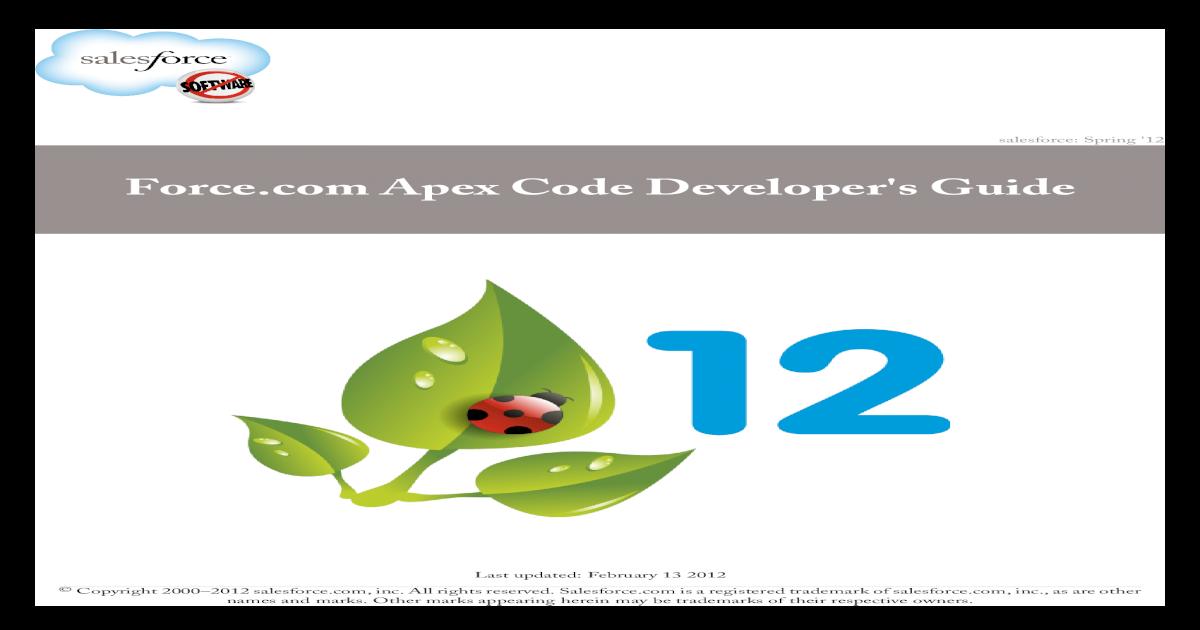 Salesforce Apex Language Reference v24 - [PDF Document]
