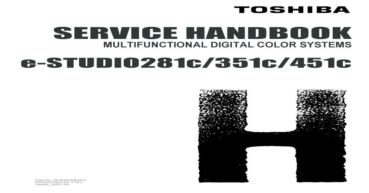 9310414-Toshiba E-Studio281c 351c 451c Service Handbook