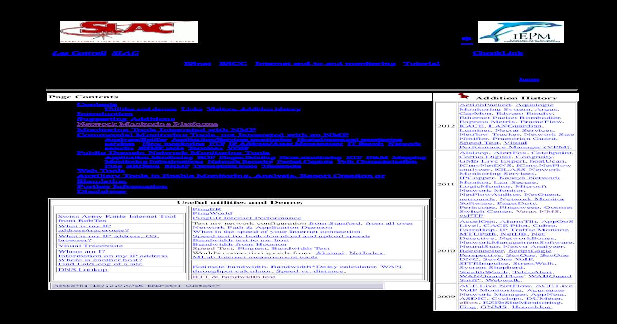Network Monitoring Tools - [PDF Document]