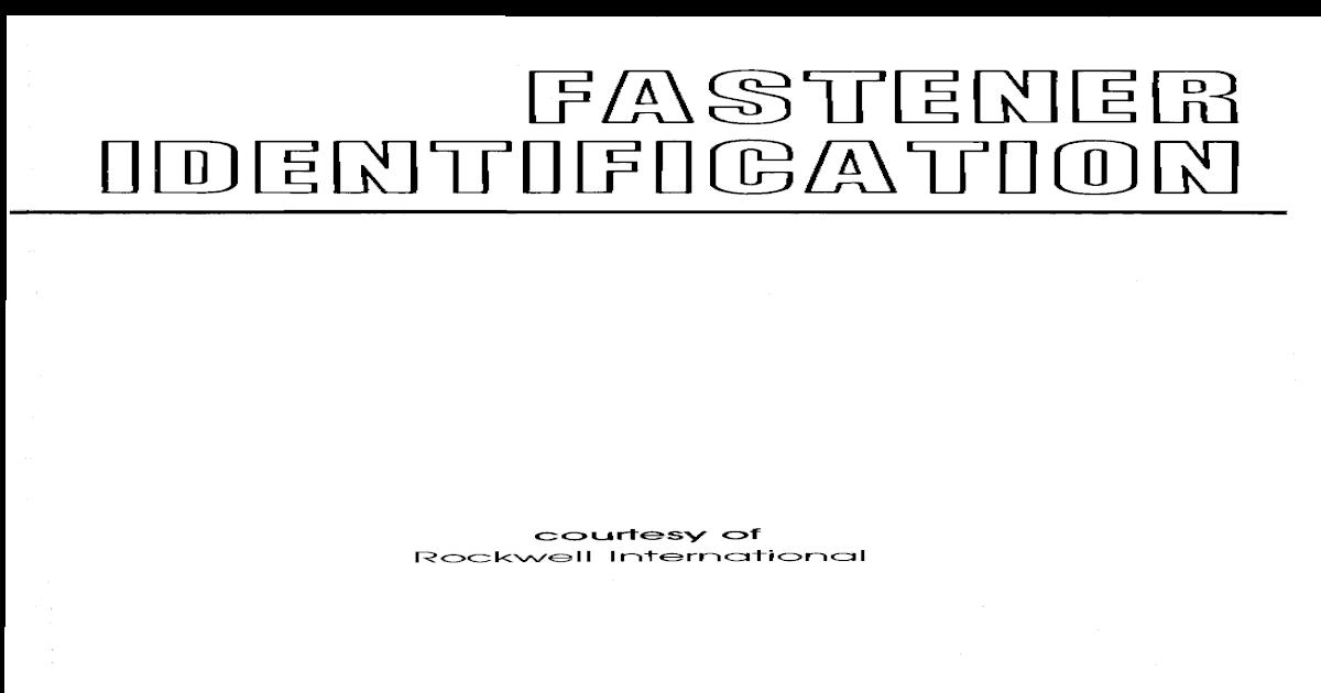 Fastener Identification - [PDF Document]