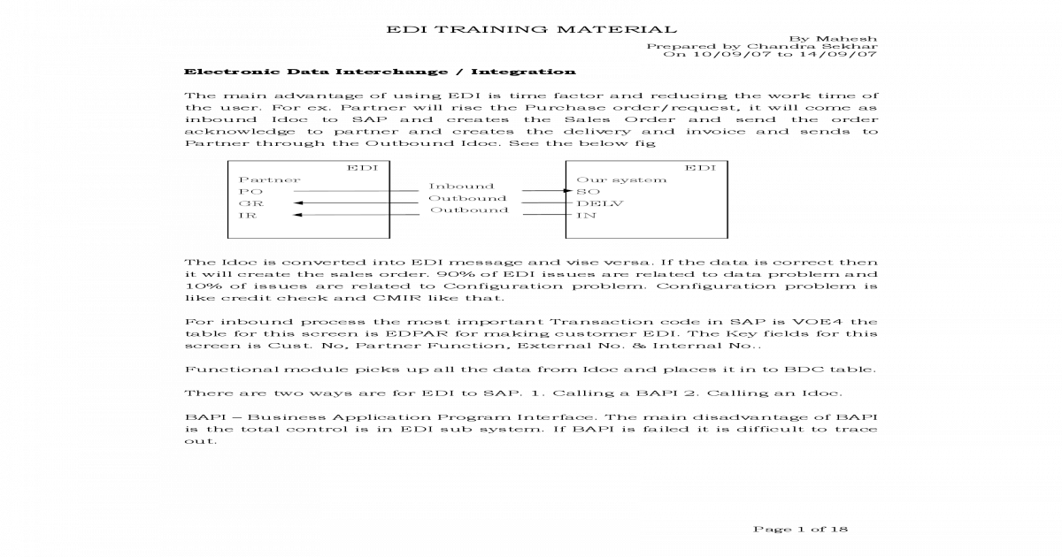 Edi Training Material - [PDF Document]