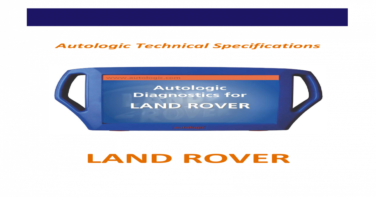 Land Rover Technical Specifications Updated Oct 10 - [PDF Document]