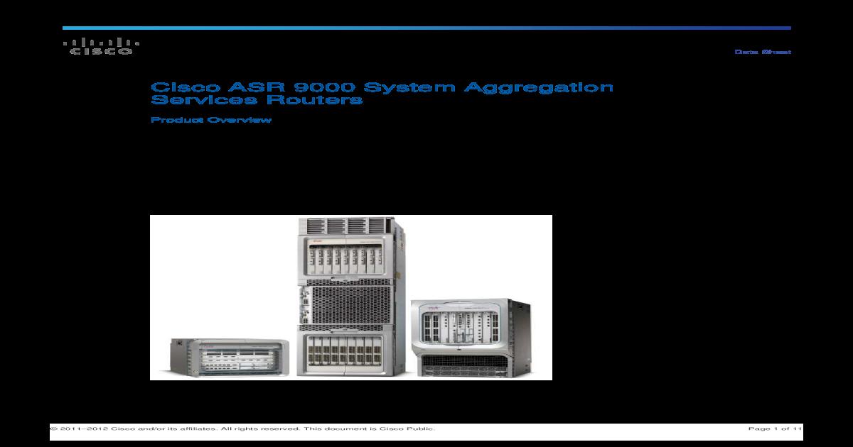 Cisco ASR 9000 Series Aggregation Services Routers - [PDF