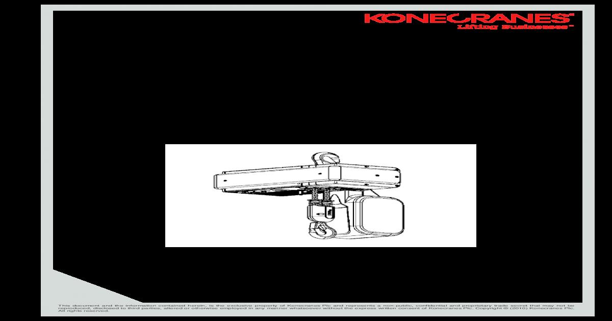 Kone Cranes XN10 Hoist Manual - [PDF Doent] on cm hoist wiring diagram, yale hoist wiring diagram, demag hoist wiring diagram, detroit hoist wiring diagram, stahl hoist wiring diagram, coffing hoist wiring diagram,