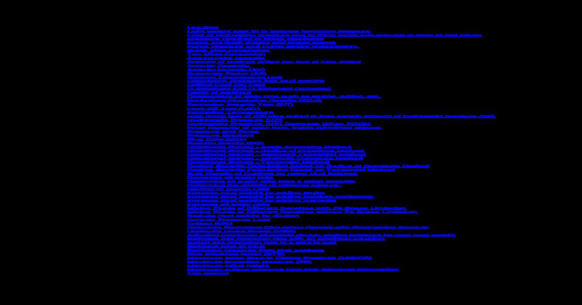 Drilling Formulas Calculation Shee V1 - [XLS Document]