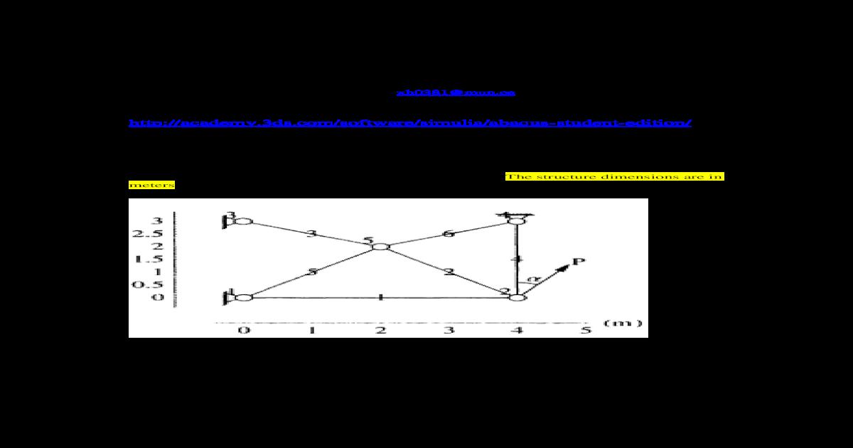 ENGI 7706/7934: Finite Element Analysis Abaqus CAE