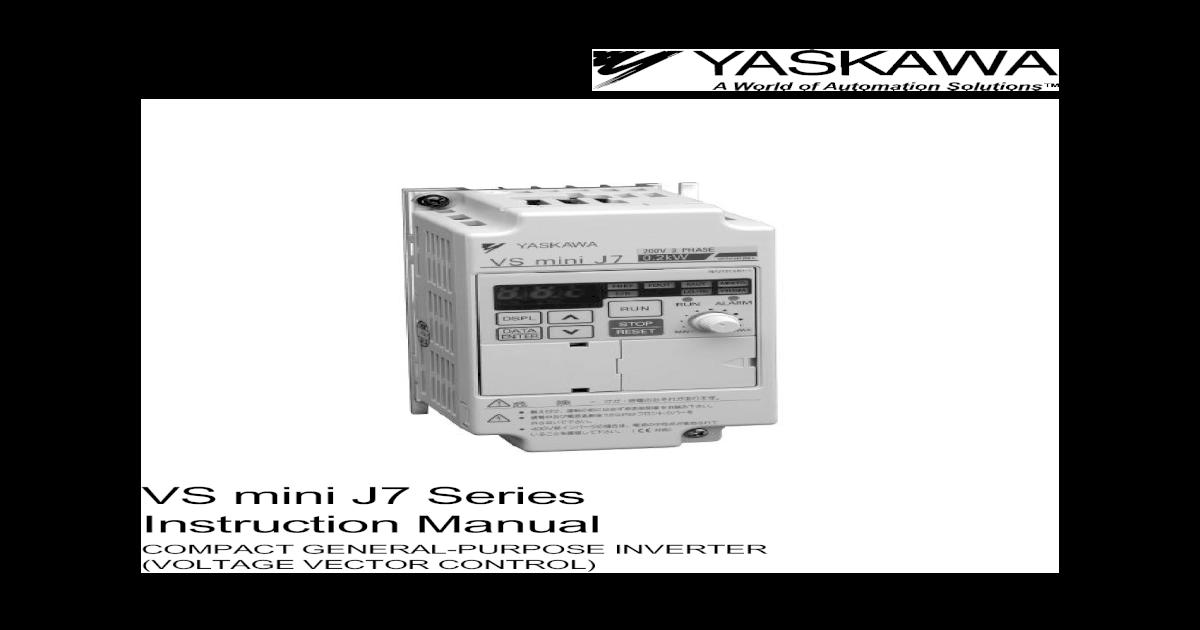 Yaskawa Inverter Fault Codes