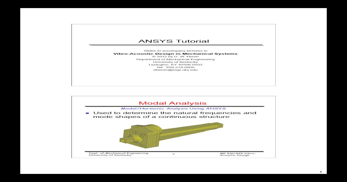 ANSYS Tutorial - [PDF Document]