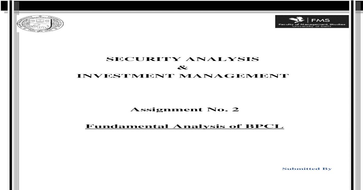 Fundamental Analysis BPCL - [DOC Document]