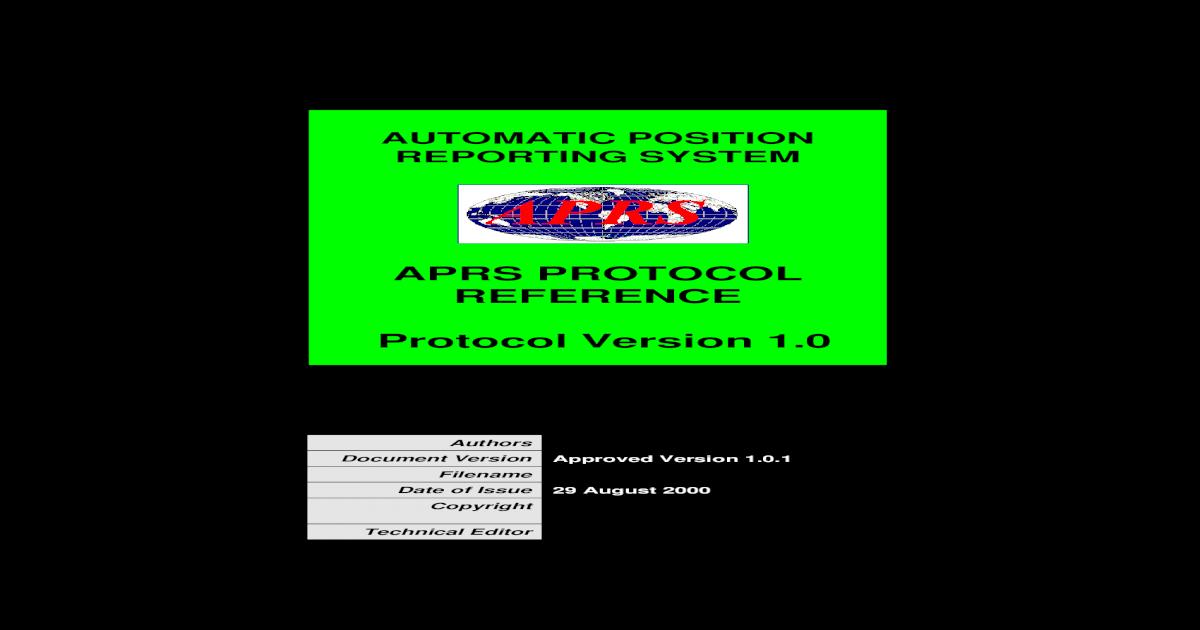 APRS101 - [PDF Document]