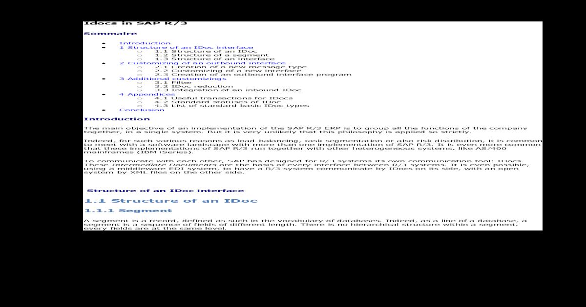 Idocs in Details - [PDF Document]