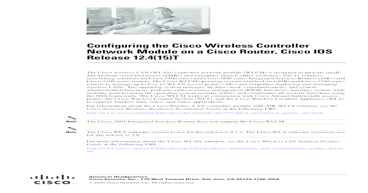Configuring the Cisco Wireless Controller Network Module on
