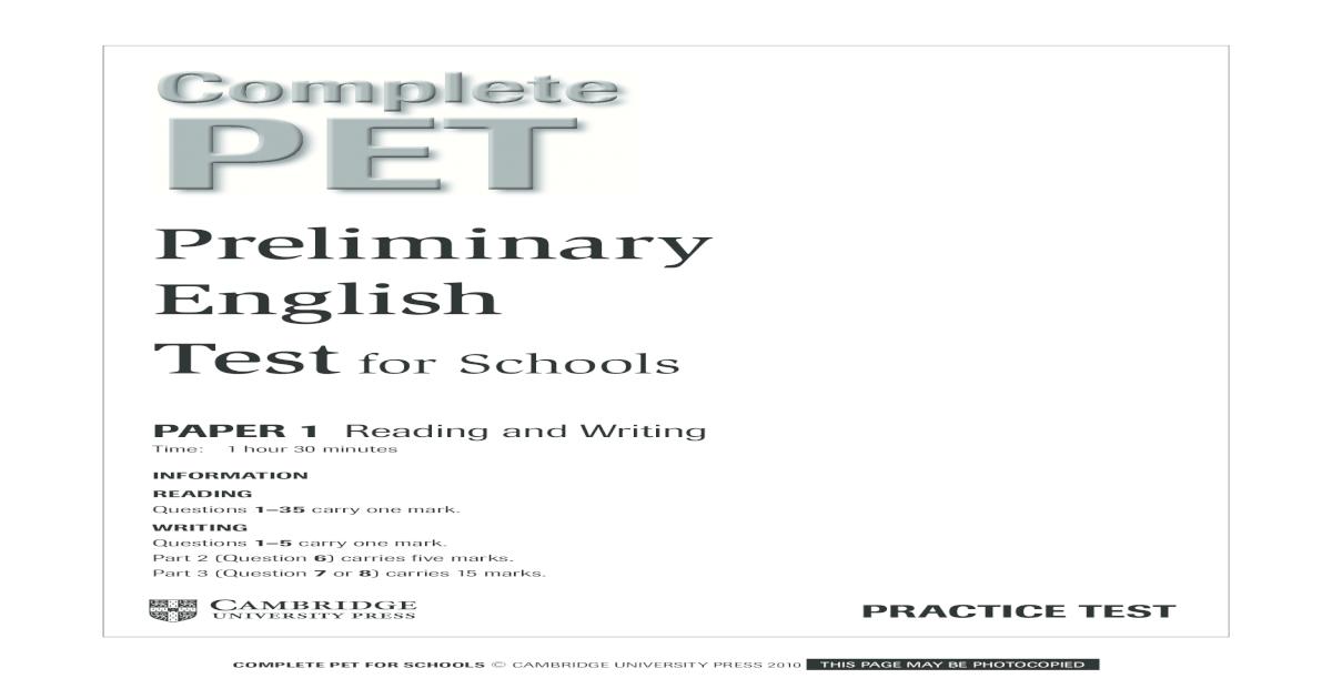 Complete Pet TEST FullTest - [PDF Document]