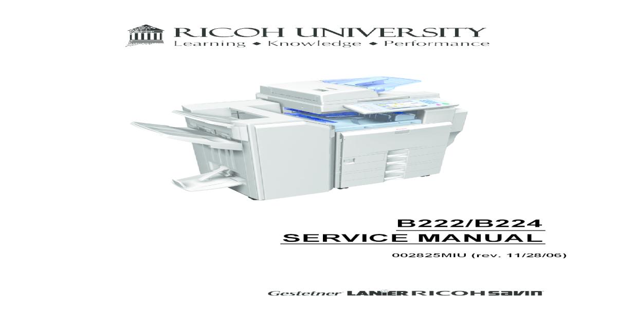 Ricoh [B222,B224] Aficio MP-C3500,MP-C4500 Parts & Service