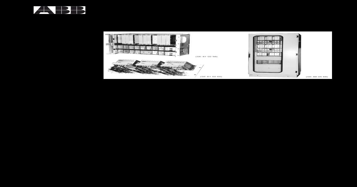 abb rxmvb wiring diagram 4 radss 3 phase busbar protection abb   pdf document   radss 3 phase busbar protection abb