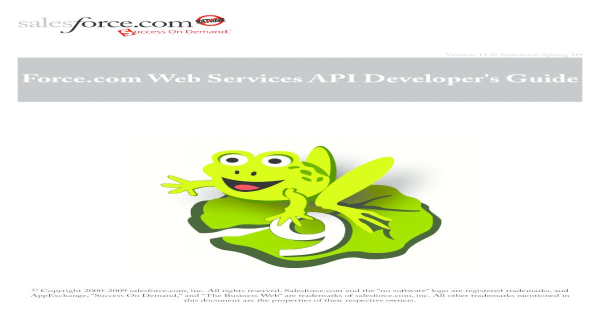 Force com Web Services API Developer's Guide ver 15 0 - [PDF Document]