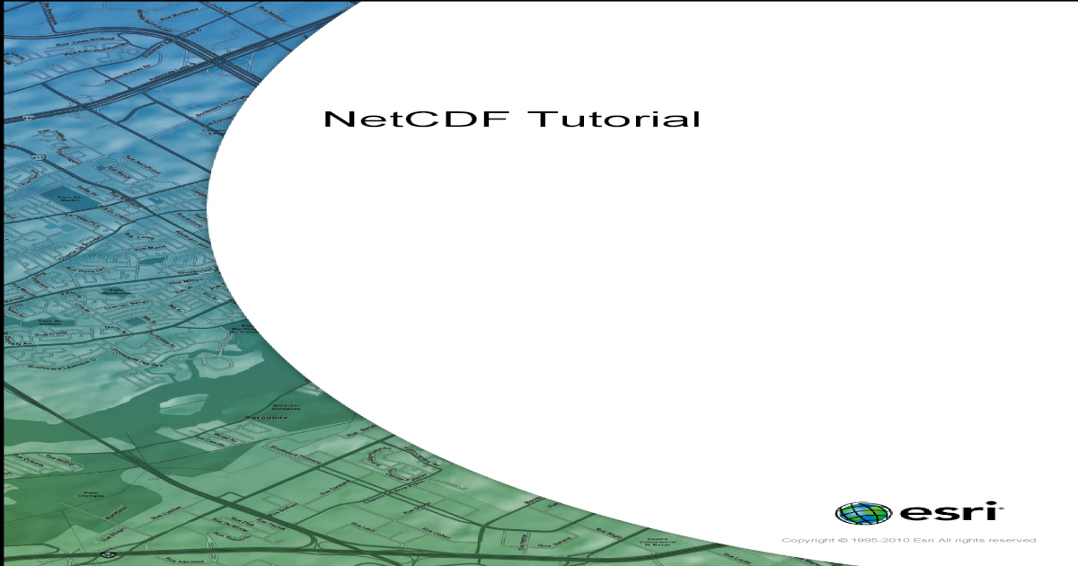 Netcdf Tutorial - [PDF Document]