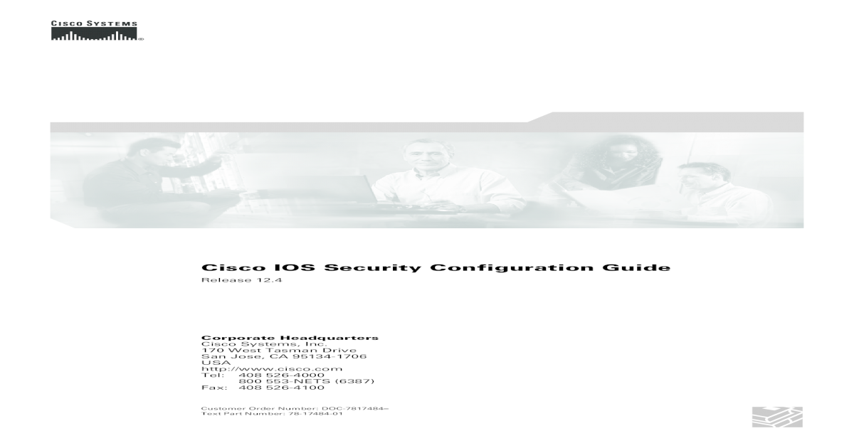 Cisco IOS Security Configuration Guide, Release 12 4 - [PDF