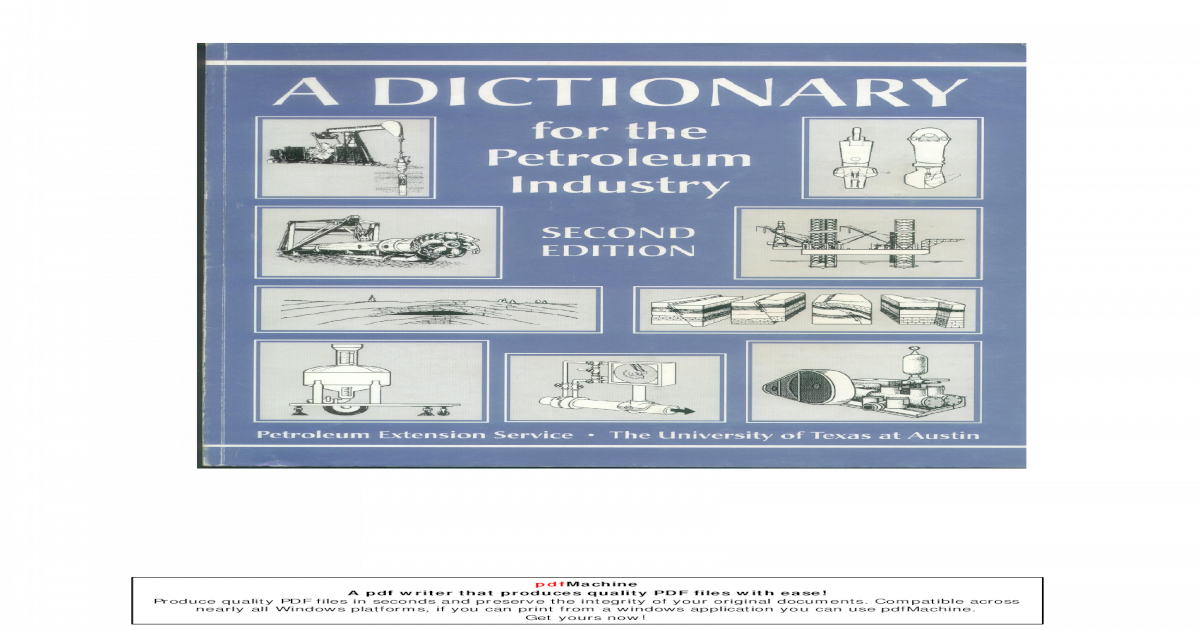 Dictionary For The Petroleum Industry Pdf Document