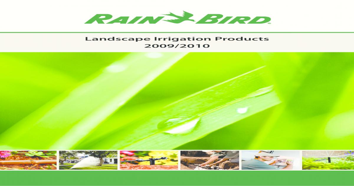 Catalog Rain Bird 2009-2010 - [PDF Doent] on