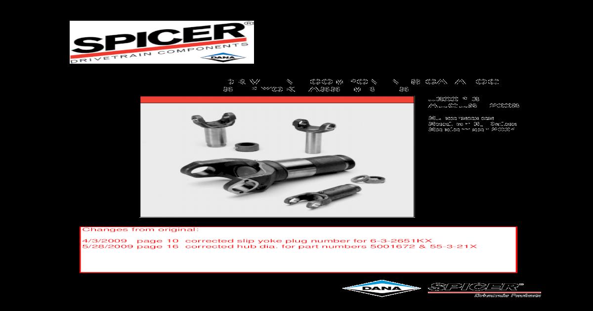 Spicer 2-3-14861X Slip Yoke Assembly