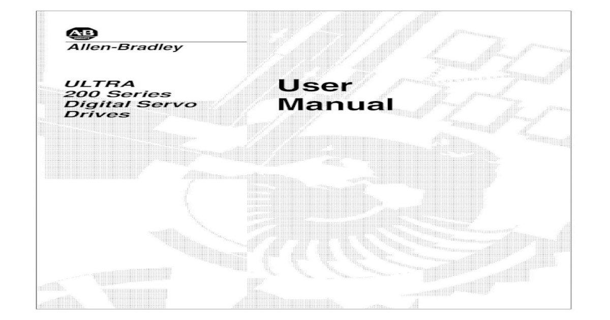 1398-UM000A-EN-P ULTRA 200 Series Digital Servo Drives