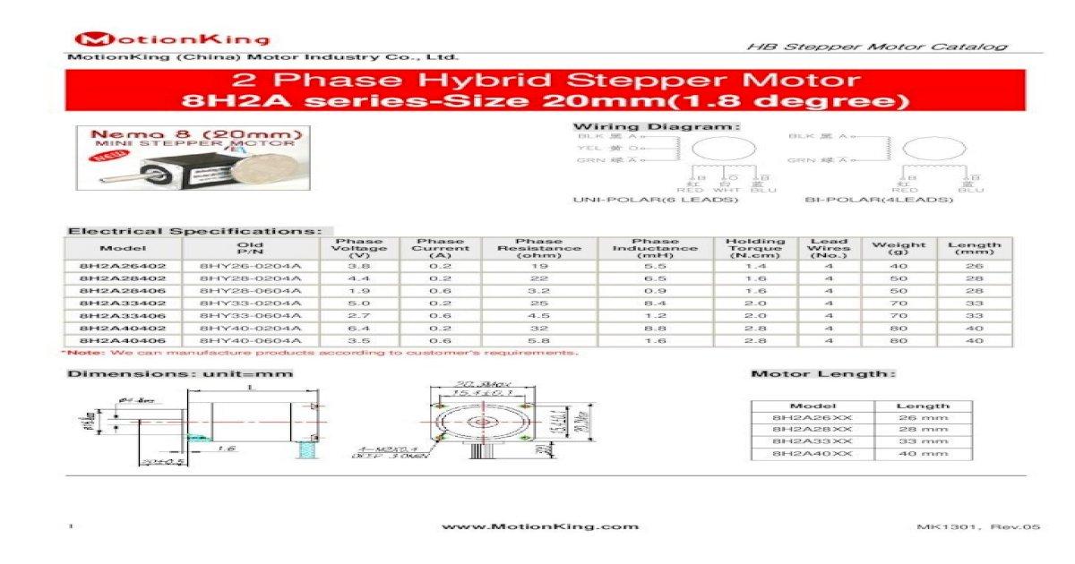 Hb Stepper Motor Catalog