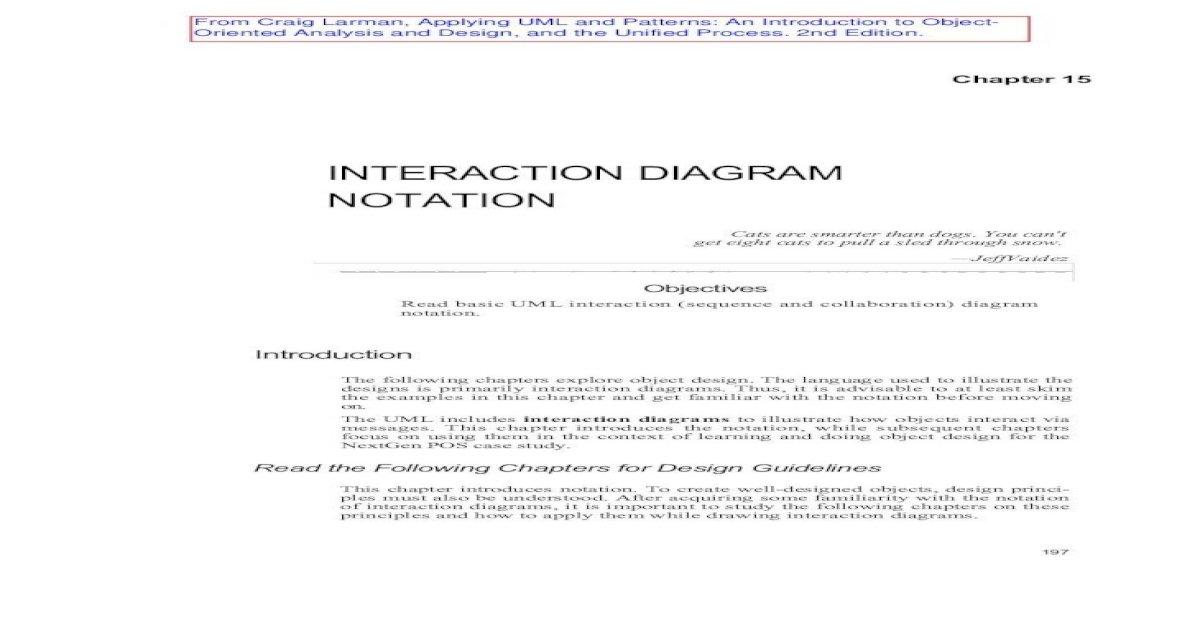 INTERACTION DIAGRAM NOTATION - Computer mikec/cs48/project ...