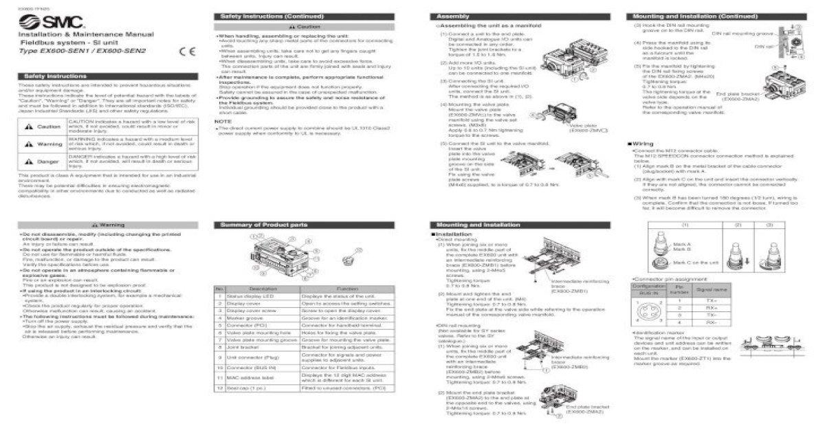 Installation & Maintenance Manual Fieldbus system