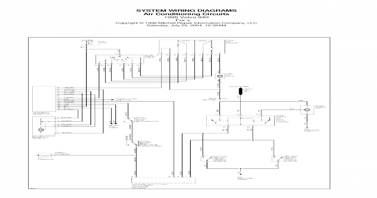 SYSTEM WIRING DIAGRAMS Air Conditioning Circuits 1995