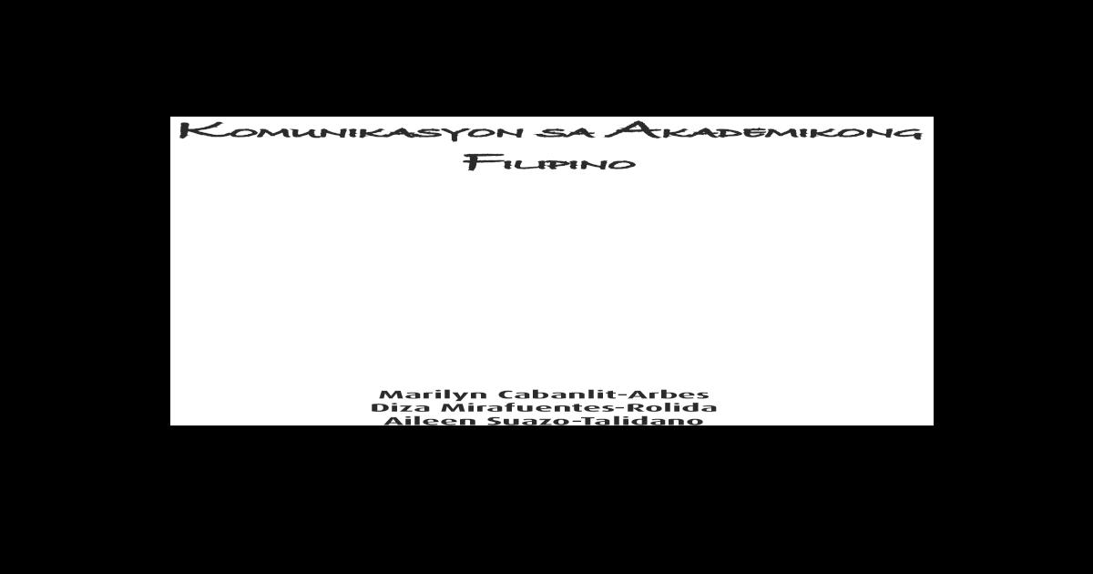 Filipino 2014 Pdf Document  tumutukoy sa pagpaparating ng ideya o mensahe gamit ang salitang nagririprisinta sa mga kaisipan halimbawa: filipino 2014 pdf document