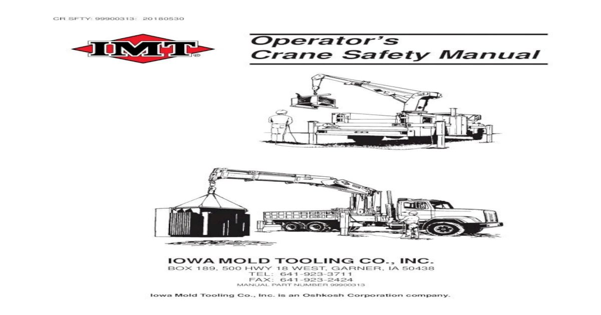 Seatrax Inc Offshore Crane Basics Manual Guide